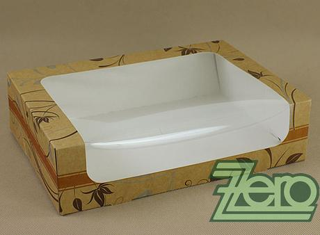 Krabička papírová s okýnkem a tiskem 31x22x8 cm,
