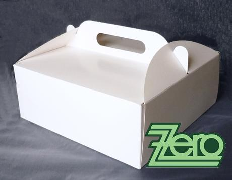 Krabička papírová s uchem 21 x 21 cm - bílá,