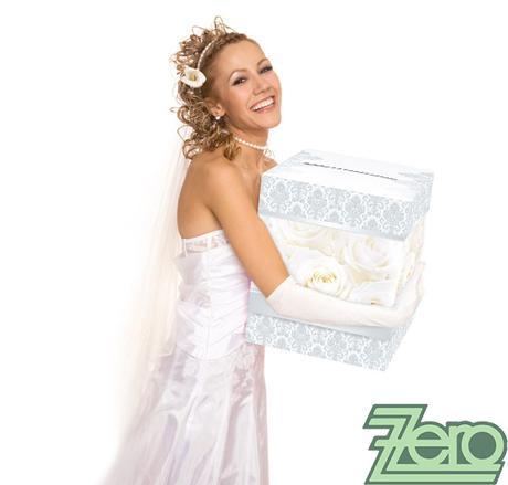 Krabička (truhlička) svatební na přání - stříbrná ,