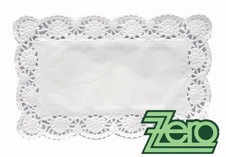 Krajka ozdobná papírová pod koláče 24x15 cm - bílá,