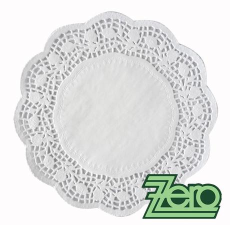 Krajka ozdobná papírová pod koláče Ø 24 cm - bílá,