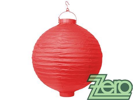 Lampión svítící závěsný pap. pr. 30 cm - červený,