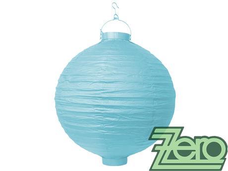 Lampión svítící závěsný pap. pr. 30 cm - modrý,