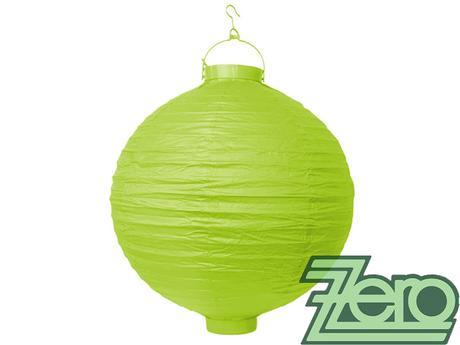 Lampión svítící závěsný pap. pr.30cm - zel. jablko,