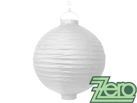 Lampión svítící závěsný papírový pr. 30 cm - bílý,