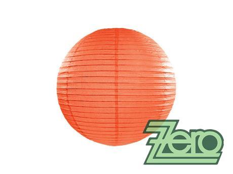 Lampión závěsný papírový pr. 25 cm - oranžová,