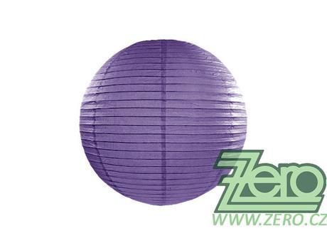 Lampión závěsný papírový pr. 25 cm - tm. fialový,