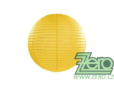 Lampión závěsný papírový pr. 25 cm - žlutý,