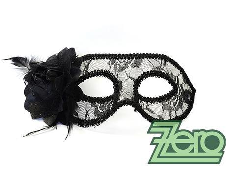 Maska/škraboška - černá krajka,