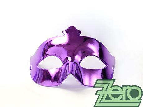 Maska/škraboška - fialová,