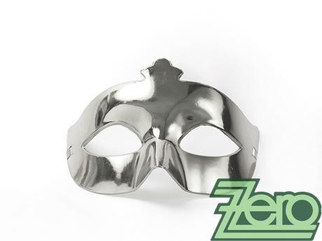 Maska/škraboška - stříbrná,
