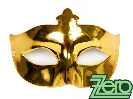 Maska/škraboška - zlatá,