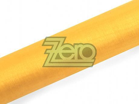 Organza 16 cm x 9 m - tmavě žlutá,