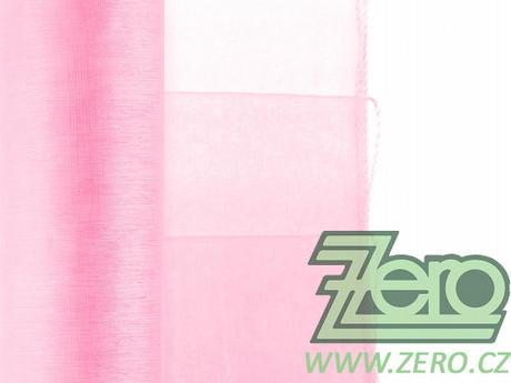 Organza 38 cm x 9 m - sv. růžová (obšitá),