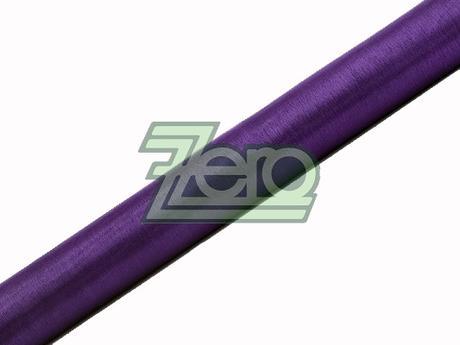 Organza 38 cm x 9 m - tm. fialová (obšitá),