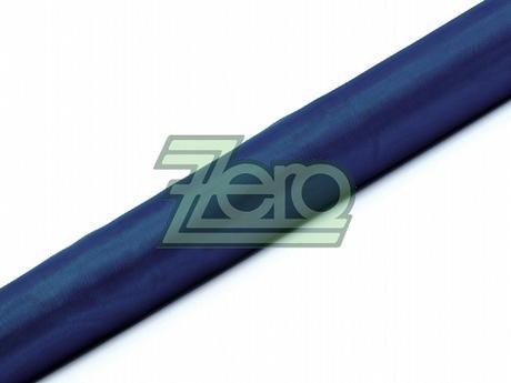 Organza 38 cm x 9 m - tm. modrá (obšitá),