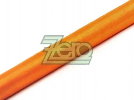 Organza 40 cm x 10 y - sv. oranžová (obšitá),