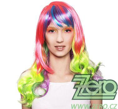 """Paruka """"Glamour"""" - barevná,"""