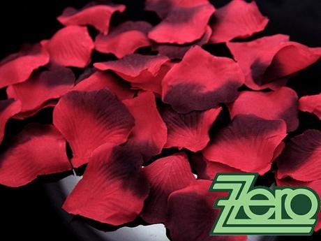 Plátky růží 100 ks - červeno-bordó,