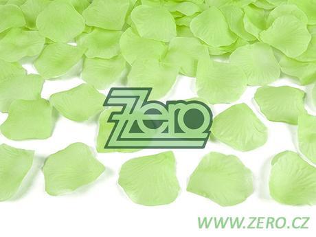 Plátky růží 100 ks - limetkově zelené,