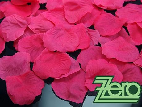 Plátky růží 100 ks - malinové,