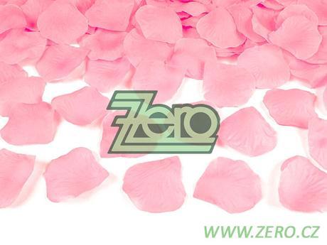 Plátky růží 100 ks - růžové,
