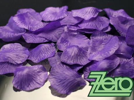 Plátky růží 100 ks - tm. fialové,