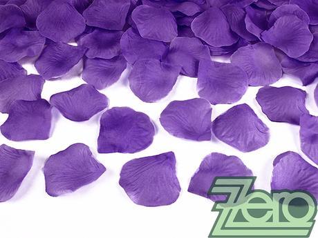 Plátky růží 500 ks - fialové,