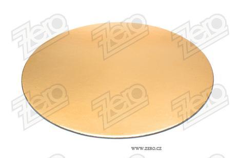 Podložka lepenková pr. 22 cm - zlatá,