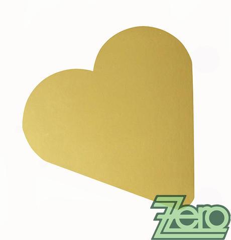 """Podložka ozdobná ve tvaru """"srdce"""" - zlatá,"""