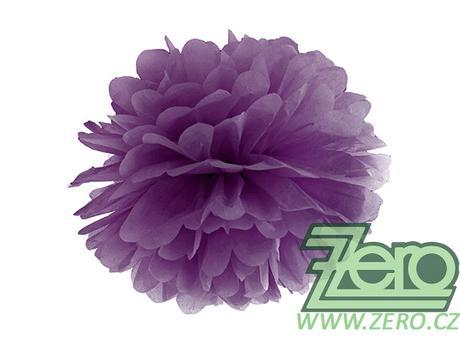 Pom poms papírový pr. 35 cm - purpurově fialový,