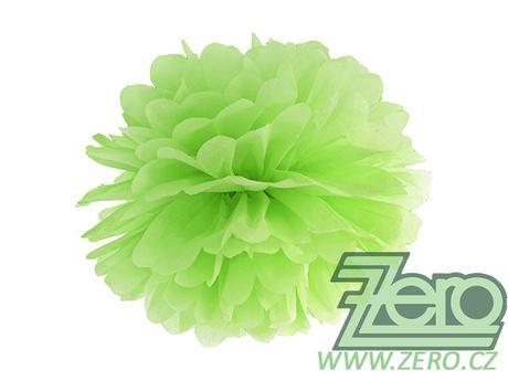 Pom poms papírový pr. 35 cm - zelené jablko,