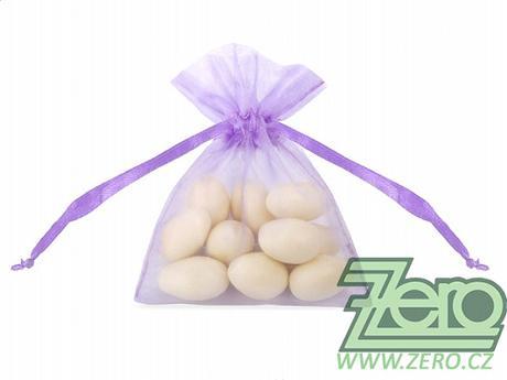 Pytlíček z organzy na mandle - fialový (lila),