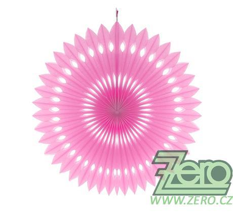 Rozeta závěsná papírová pr. 40 cm - růžová,