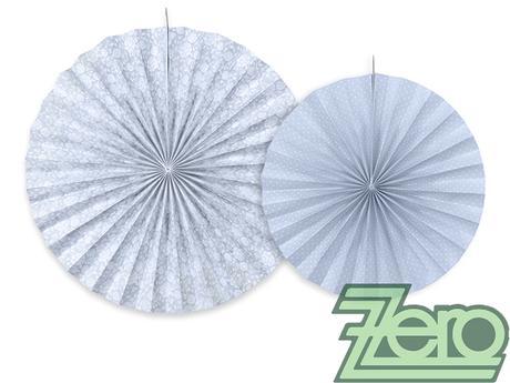 Rozety závěsné (2 velikostí) - šedo-modrý,