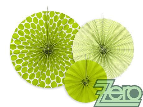 Rozety závěsné (3 velikostí) - zelené,