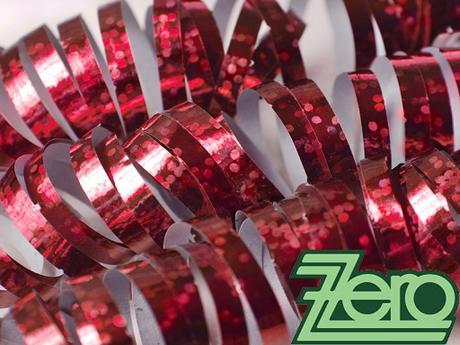 Serpentýny holografické 18 ks x4 m - červená,