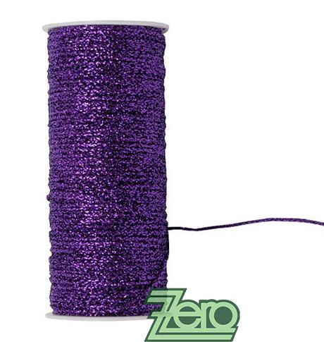 Šnůrka (stuha) lurexová 2 mm x 25 m - fialová,