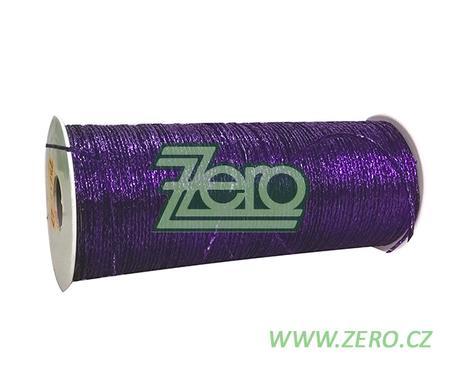Šnůrka (stuha) lurexová 2 mm x 30 m - fialová,