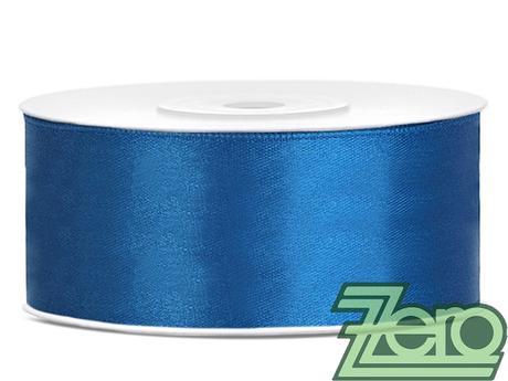 Stuha atlasová 25 mm x 25 m - modrá,