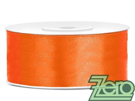 Stuha atlasová 25 mm x 25 m - pomerančová,