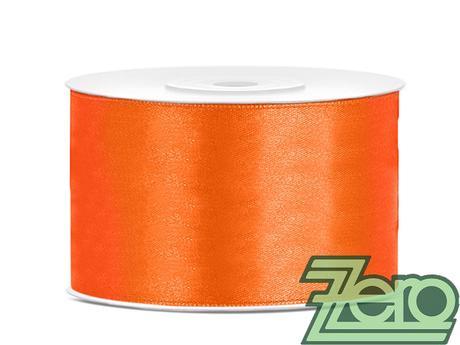 Stuha atlasová 38 mm x 25 m - pomerančová,