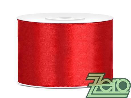 Stuha atlasová 50 mm x 25 m - červená,