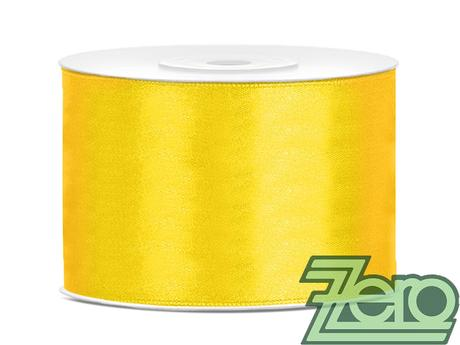 Stuha atlasová 50 mm x 25 m - žlutá,