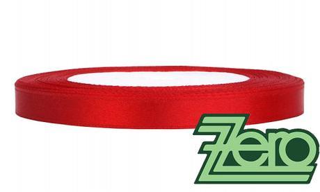 Stuha atlasová 6 mm x 25 m - červená,