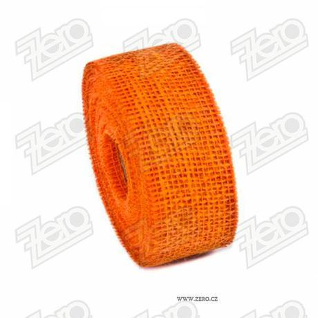 Stuha jutová 5 cm x 10 m - oranžová,