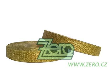 Stuha lurexová 12 mm x 30 y - zlatá,