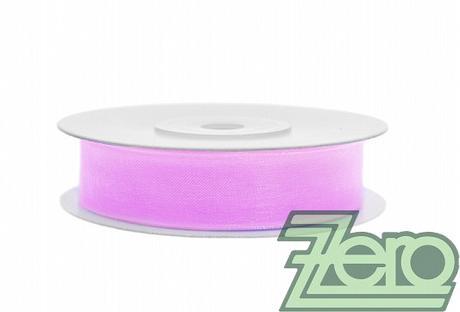 Stuha šifónová 12 mm x 25 m - fialovo-růžová,