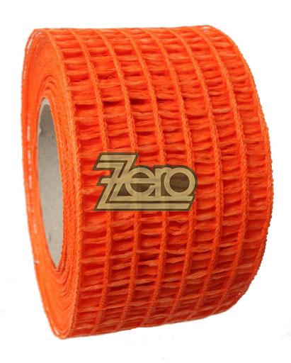 "Stuha ""síťka"" 5,5 cm x 10 y -  červeno-oranžová,"
