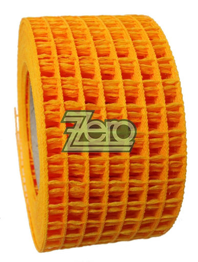 "Stuha ""síťka"" 5,5 cm x 10 y -  žluto-oranžová,"